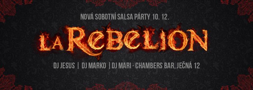 Salsa párty La Rebelion v Chamers klubu s Djs: Mari, Jesus a Marko