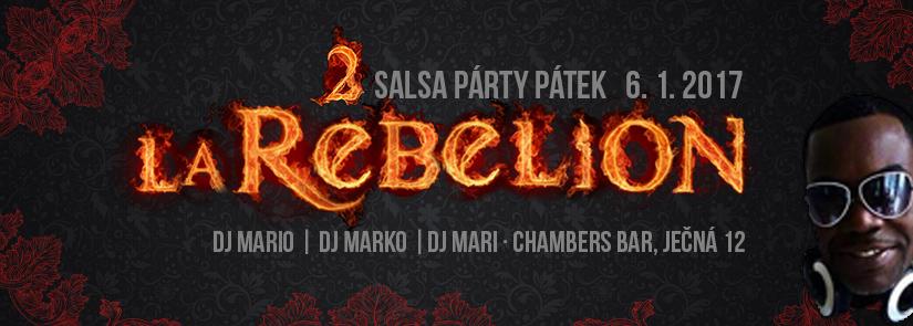 Salsa párty La Rebelion v Chamers klubu s Djs: Mari, Mario a Marko